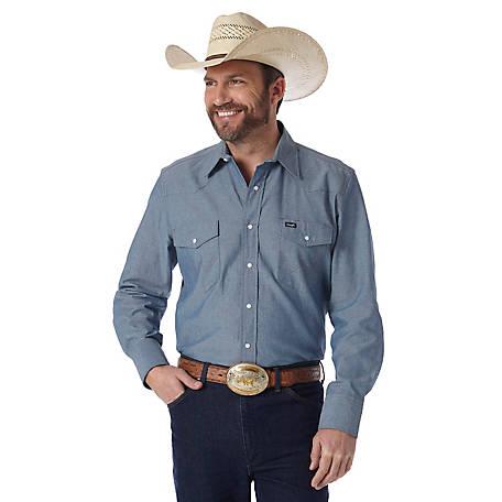 64dc9cf5ab8 Wrangler Men s Long Sleeve Chambray Work Shirt at Tractor Supply Co.