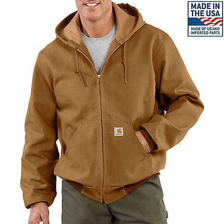 Carhartt Men's Duck Active Jacket Thermal Lined