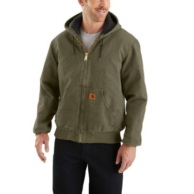 0575a299c2ef1 Carhartt Men s Sandstone Quilted Flannel-Lined Active Jacket