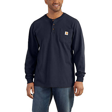 Carhartt Men's Workwear Pocket Long Sleeve Henley Jersey Original Fit