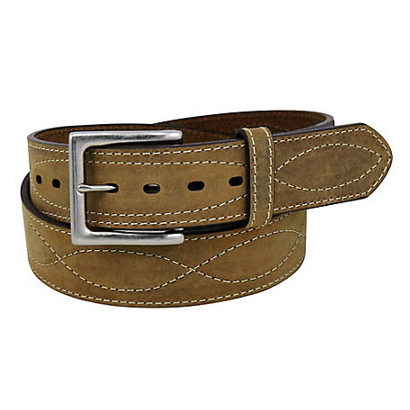 C.E. Schmidt Men's Leather Crazy Horse Belt