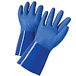 West Chester 12 in. Blue PVC Coated Cotton Lined Gloves