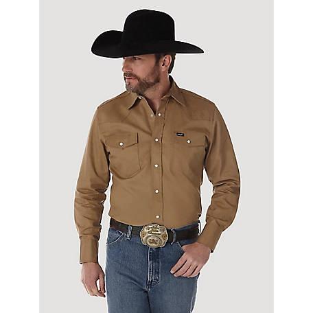 b268caa63d Wrangler Men s Long Sleeve Twill Work Shirt