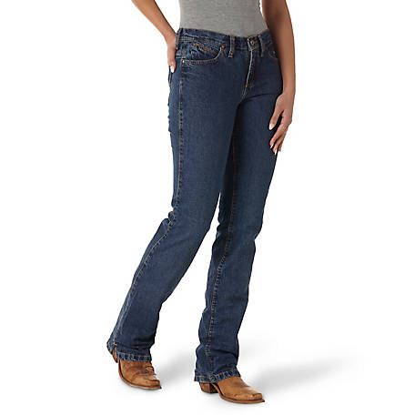 Wrangler Women's Cowgirl Cut Ultimate Riding Jean, Cash