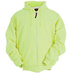 Berne Men's Hi-Visibility Yellow Thermal-Lined Zip-Front Hooded Sweatshirt