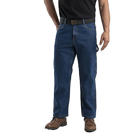 Berne Men's Flannel-Lined Denim Dungaree
