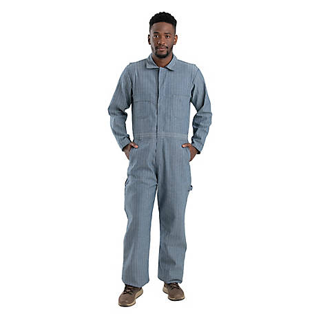 Berne Men's Fisher Stripe 100% Cotton Unlined Coverall