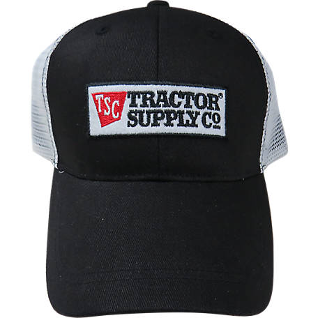 Tractor Supply Mesh Twill Trucker Cap, Black