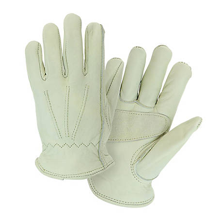 West Chester Grain Cowhide Leather Driver Palm Patch Gloves