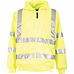 C.E. Schmidt Men's Class 3 Hi-Vis Yellow Thermal-Lined Zip-Front Hooded Sweatshirt with Reflective Tape