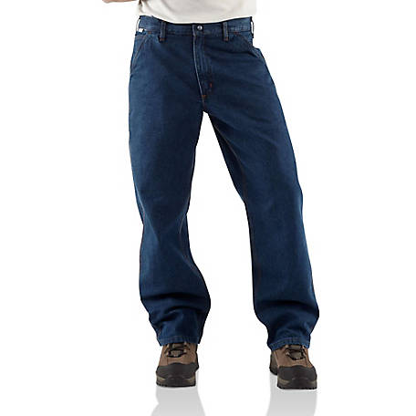 Carhartt Men's Flame Resistant Signature Denim Dungaree Jean