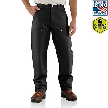 Carhartt Men's Firm Duck Double-Front Dungaree Pants, B01