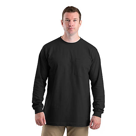 Berne Men's Heavyweight Long Sleeve Pocket T-Shirt