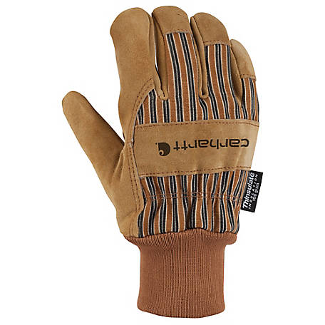 Carhartt Men's Insulated Suede Work Gloves with Knit Cuff