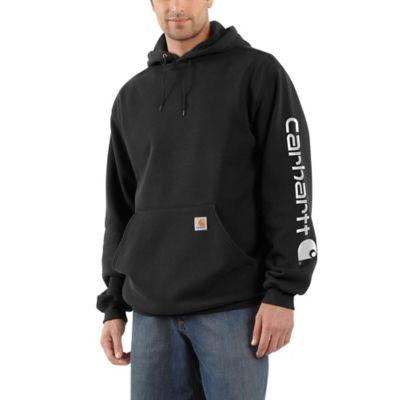 Buy Carhartt Men's Medium Weight Signature Sleeve Logo Hooded Sweatshirt Online