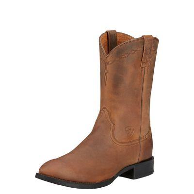 Buy Ariat Men's Heritage Roper 10 in. Distressed Brown Boot Online