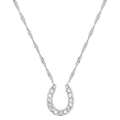 Montana Silversmiths Crystal Clear Lucky Horseshoe Necklace
