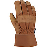 Carhartt Men's Insulated Grain Leather Work Gloves with Safety Cuff