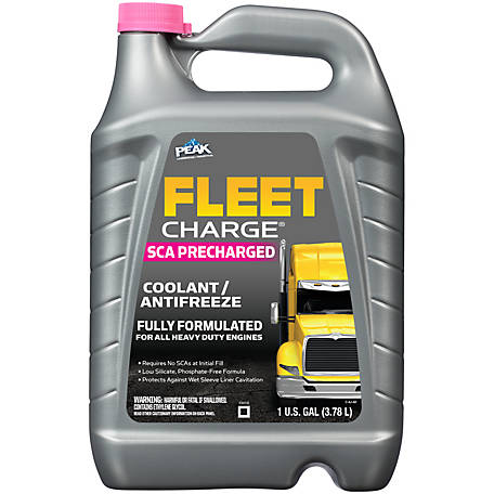 Fleet Charge SCA Precharged Fully Formulated Antifreeze & Coolant, 1 gal.