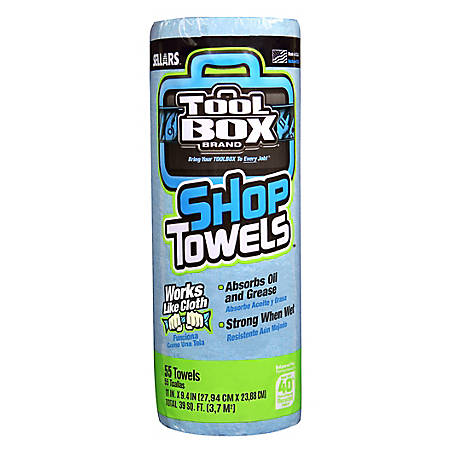 TOOLBOX 55-Count Shop Towel Roll, 5440030