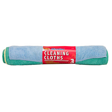 Detailer's Choice Microfiber Cleaning Clothes, Pack of 3