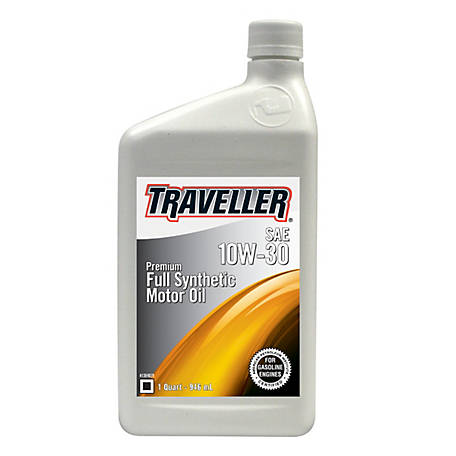 Traveller Synthetic Motor Oil 10W-30, 1 qt.