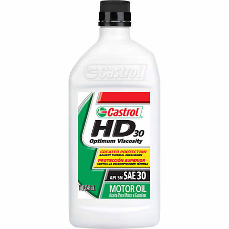 Castrol GTX Heavy Duty 30 Motor Oil, 1 qt.