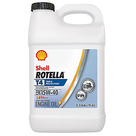 Shell Rotella T4 15W-40 Motor Oil, 2.5 gal., 550045127