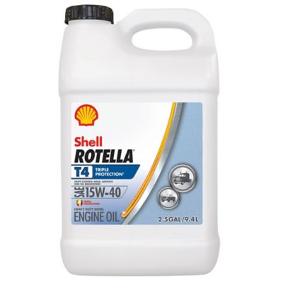 Shell ROTELLA T4 SAE 15W-40 Diesel Engine Oil, 2 5 gal  at Tractor Supply  Co
