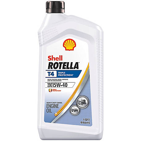 Shell ROTELLA T4 15W-40 Motor Oil, 1 qt.