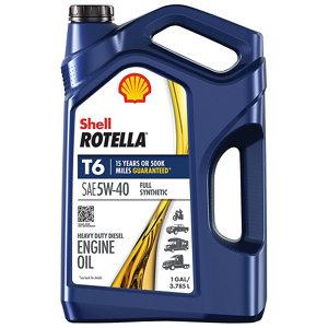 15w40 Diesel Oil >> Shell ROTELLA T6 Full Synthetic 5W-40 Heavy-Duty Motor Oil ...