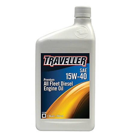 Traveller Premium All Fleet 15W-40 Diesel Engine Oil, 1 qt.