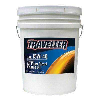 Buy Traveller Premium All Fleet 15W-40 Diesel Engine Oil; 5 gal. Online
