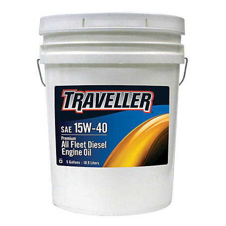 Traveller Premium All Fleet 15W-40 Diesel Engine Oil, 5 gal.