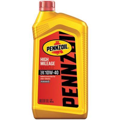 Buy Pennzoil High Mileage Vehicle 10W40 Motor Oil; 1 qt. Online