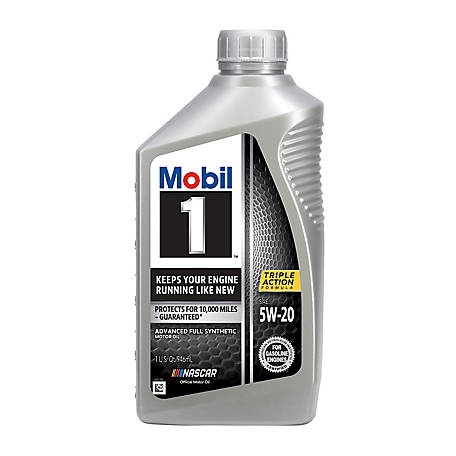 Mobil 1 Advanced Full Synthetic Motor Oil 5W-20, 1 qt., 103008