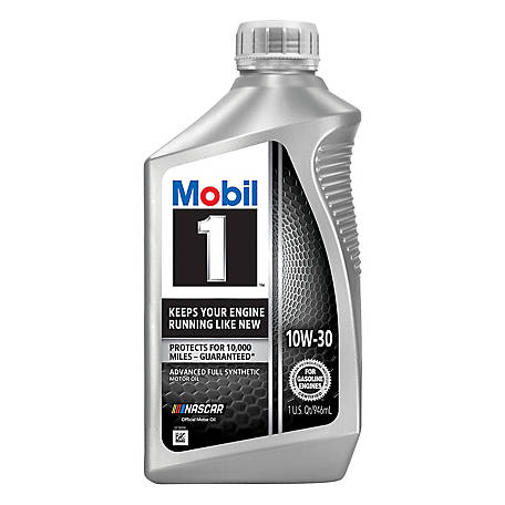 Mobil 1 Advanced Full Synthetic Motor Oil 10W-30, 1 qt., 122319