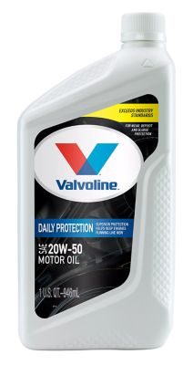 Buy Valvoline 20W50 Conventional Motor Oil; 1 qt. Online