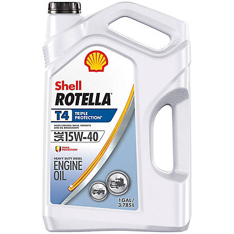 Shell ROTELLA T4 15W-40 Motor Oil, 1 gal.