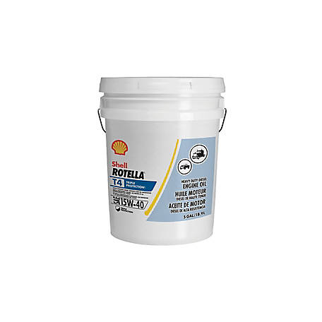 Shell ROTELLA T4 15W-40 Heavy Duty Diesel Engine Oil, 5 gal.