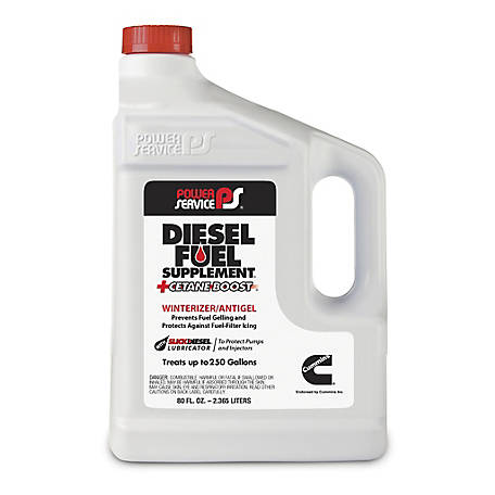 Power Service Diesel Fuel Supplement Antigel + Cetane Boost, 80 oz.