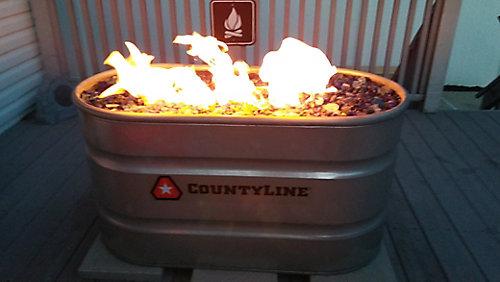 Diy Natural Gas Stock Tank Fire Pit