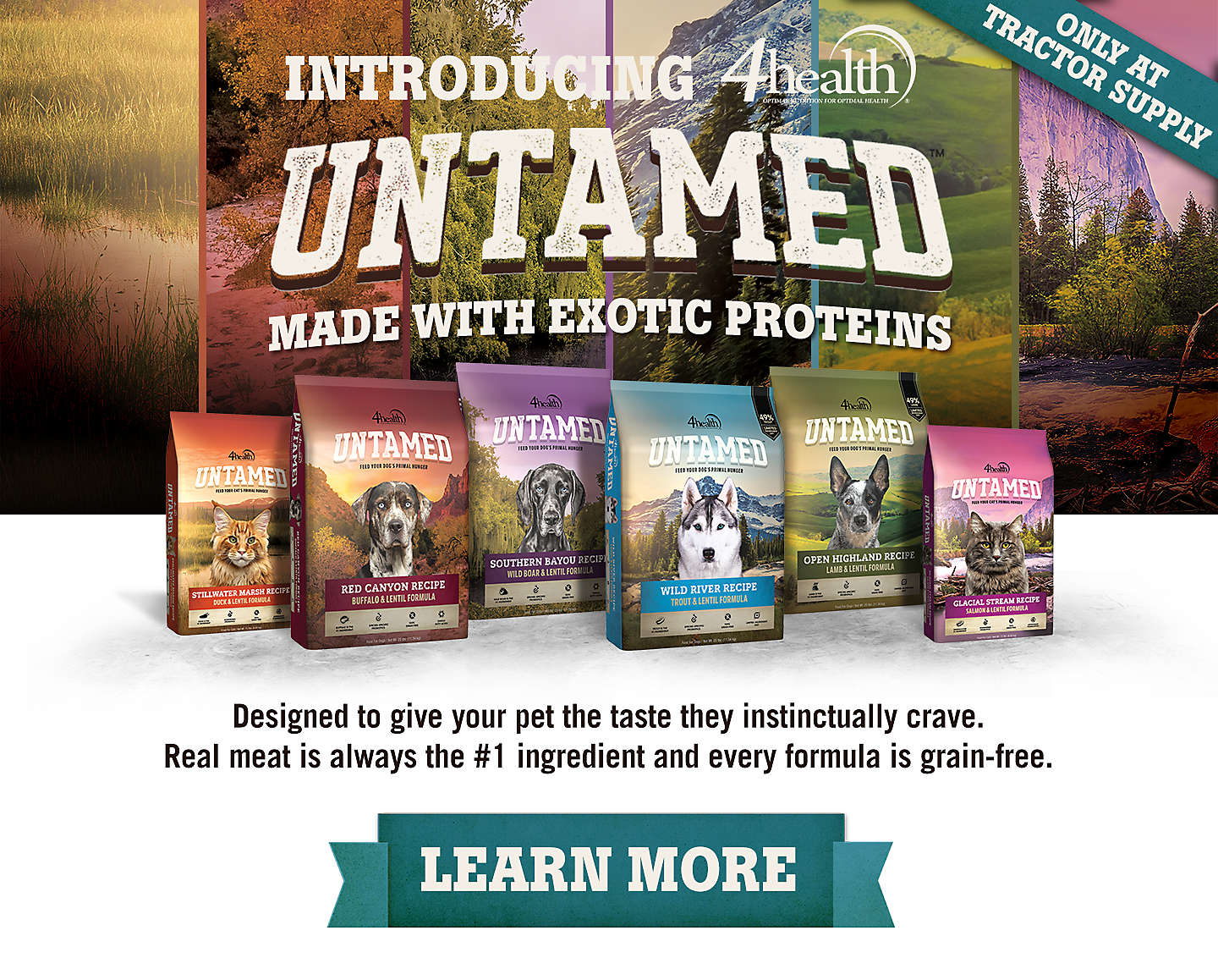 Introducing 4health Untamed Protein-Rich Pet Food