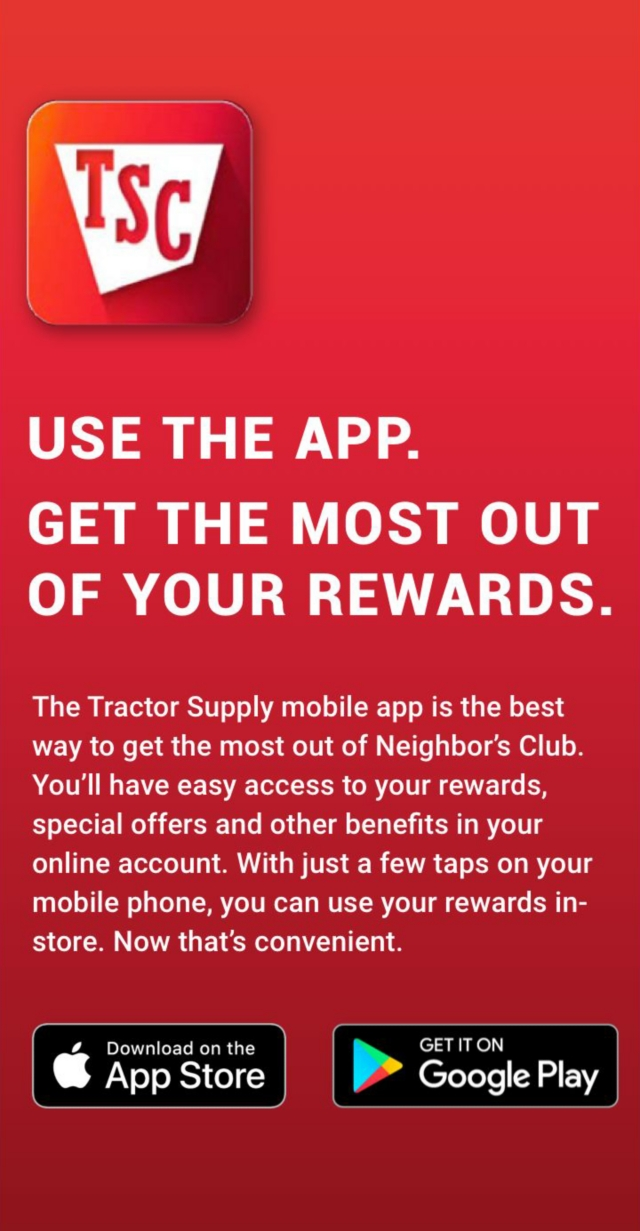 Neighbor's Club   Tractor Supply Co.